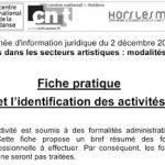 immatriculation et identification des activités
