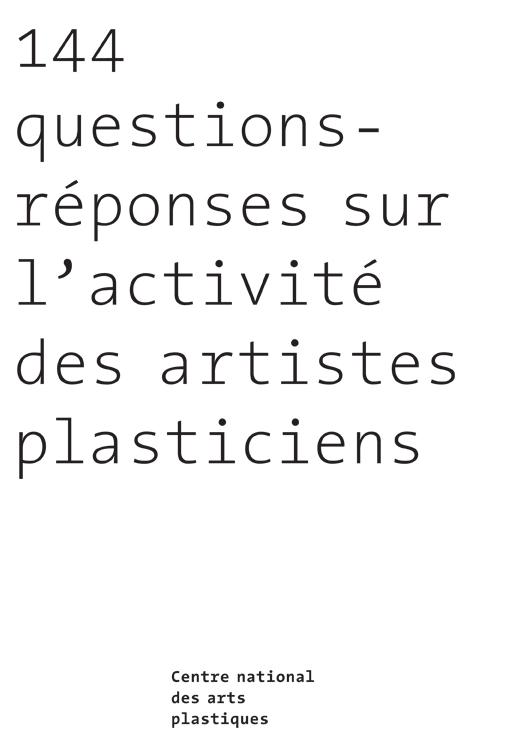144questions reponses sur l'activité des artistes plasticiens