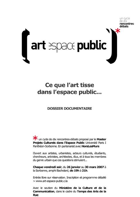 Ce que l'art tisse  dans l'espace public