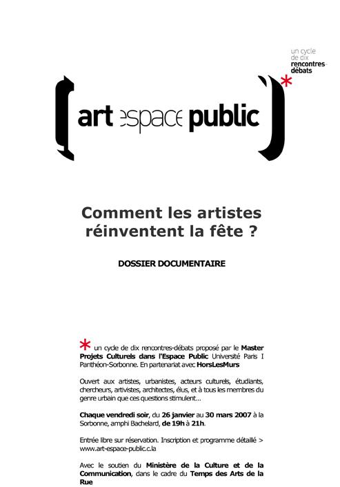 Rencontre-débat Comment les artistes réinventent la fête