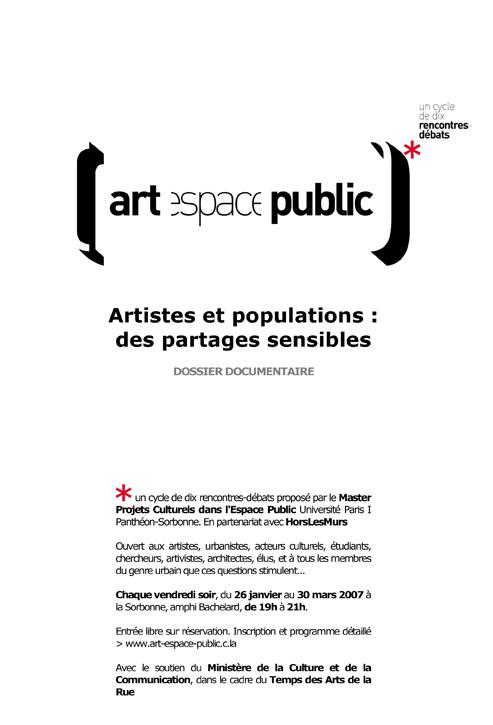Microsoft Word - Rencontre-débat Artistes et populations Des p