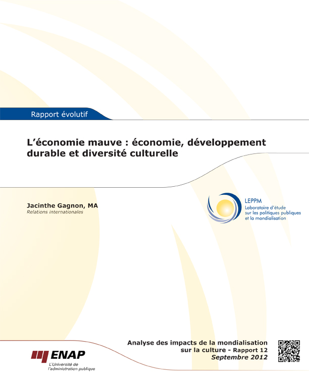 economie mauve: économie, développement durable , diversité culturelle