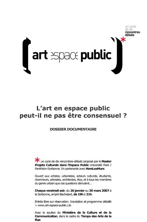 L'art en espace public peut-il ne pas être consensuel