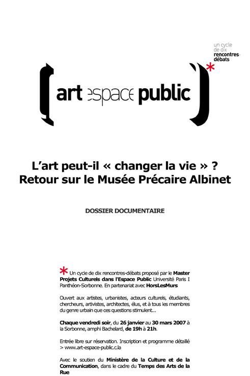 """Microsoft Word - Rencontre-débat L'art peut-il """"changer la vie"""