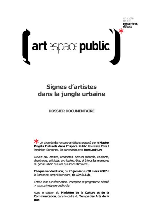 signes d'artistes dans la jungle urbaine