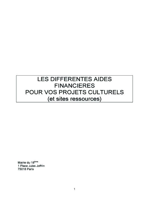 Projets culturels : panorama des différentes aides financières